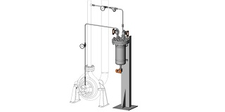 API 682 Plan 22 Cooled Flush with Strainer