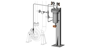 API 682 Plan 41 Cooled Flush with Cyclone Separator